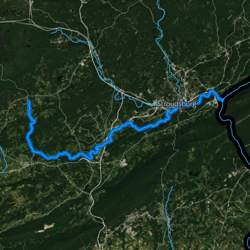 Fly fishing map for McMichael Creek, Pennsylvania