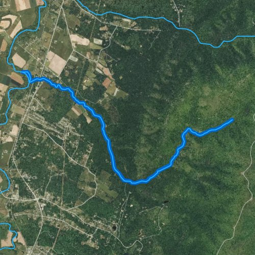 Fly fishing map for Meadow Run, Virginia