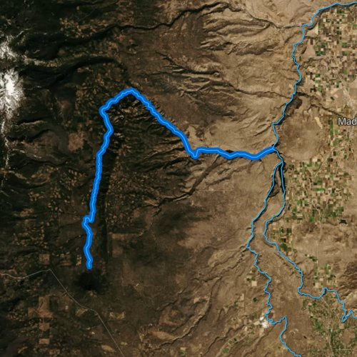 Fly fishing map for Metolius River, Oregon