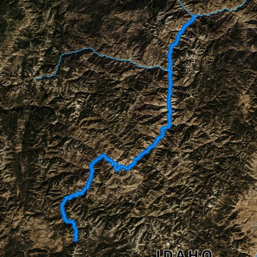 Fly fishing map for Middle Fork Salmon River, Idaho