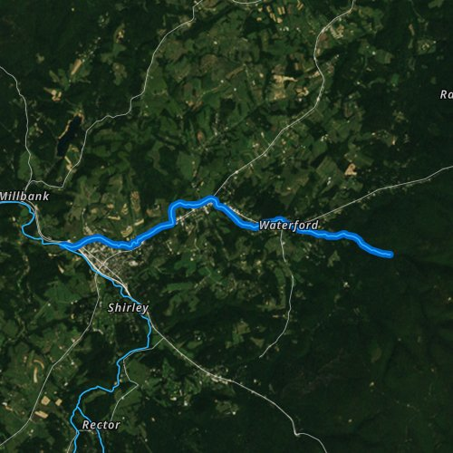 Fly fishing map for Mill Creek, Pennsylvania