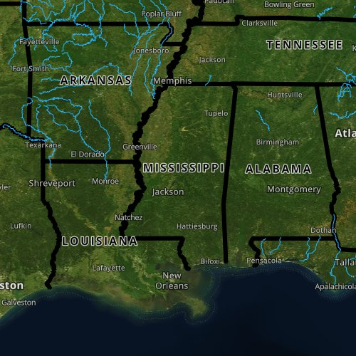 Fly fishing report and map for Mississippi.