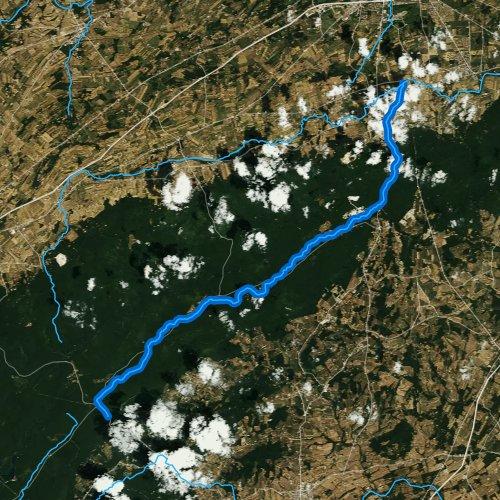 Fly fishing map for Mountain Creek, Pennsylvania