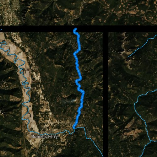 Fly fishing map for Moyie River, Idaho