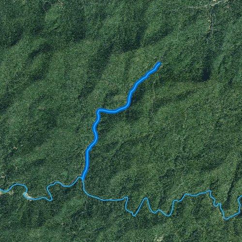 Fly fishing map for Mulky Creek, Georgia