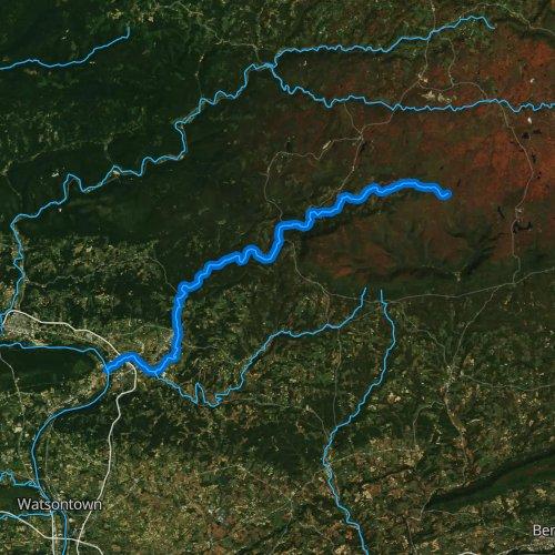 Fly fishing map for Muncy Creek, Pennsylvania