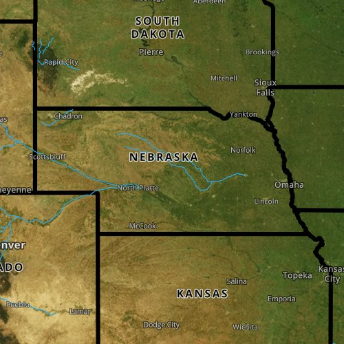 Fly fishing report and map for Nebraska.