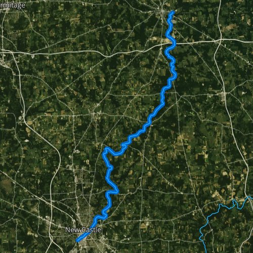 Fly fishing map for Neshannock Creek, Pennsylvania
