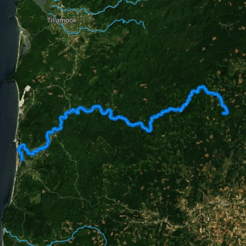 Fly fishing map for Nestucca River, Oregon