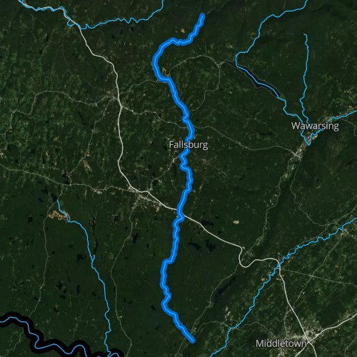 Fly fishing map for Neversink River, New York