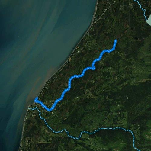 Fly fishing map for Ninilchik River, Alaska