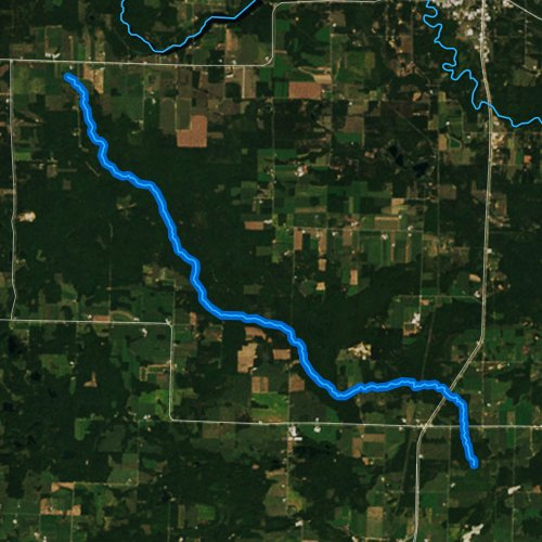 Fly fishing map for North Branch Beaver Creek, Wisconsin