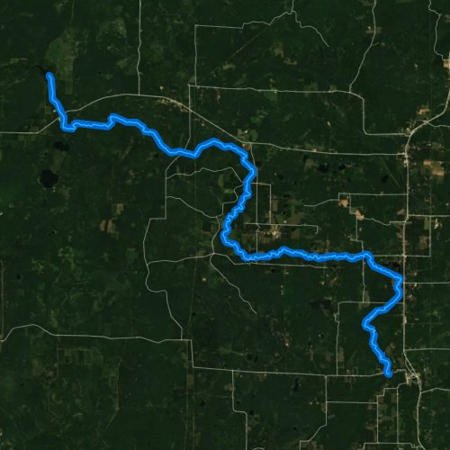 Fly fishing map for North Branch Pike River, Wisconsin