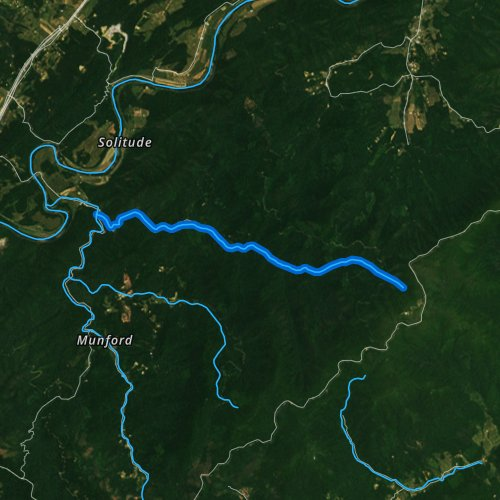 Fly fishing map for North Creek, Virginia