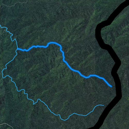 Fly fishing map for North Fork Citico Creek, Tennessee