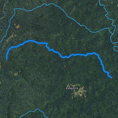 Fly fishing map for North Harper Creek, North Carolina