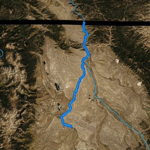 Fly fishing map for North Platte River, Colorado