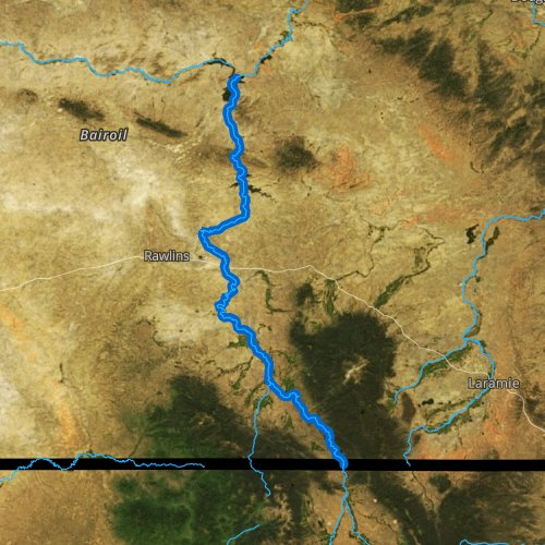Fly fishing map for North Platte River: Upper, Wyoming
