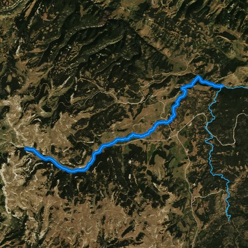 Fly fishing map for North Tongue River, Wyoming