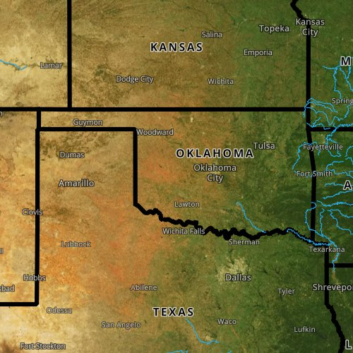 Fly fishing report and map for Oklahoma.