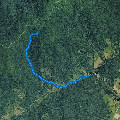 Fly fishing map for Overstreet Creek, Virginia