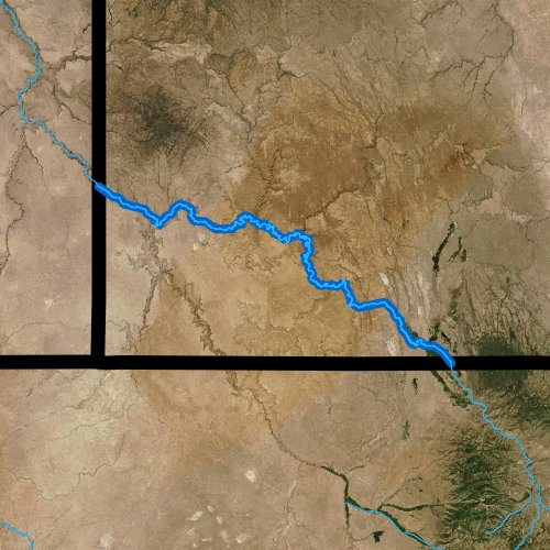 Fly fishing map for Owyhee River, Idaho