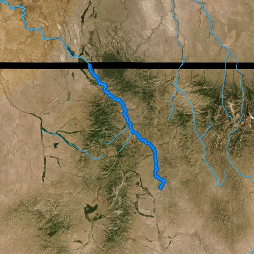 Fly fishing map for Owyhee River, Nevada