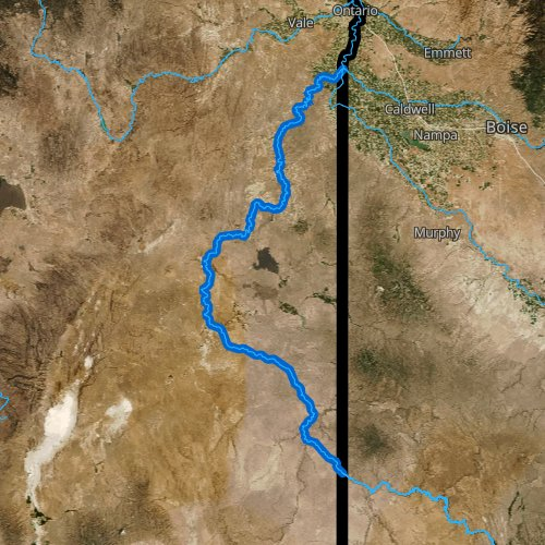 Fly fishing map for Owyhee River, Oregon