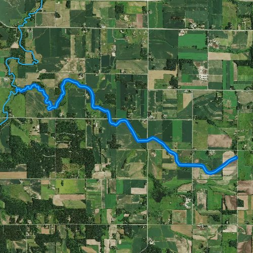 Fly fishing map for Parker Creek, Wisconsin