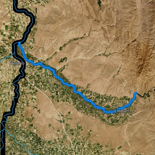 Fly fishing map for Payette River, Idaho