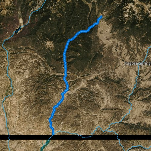 Fly fishing map for Piedra River, Colorado