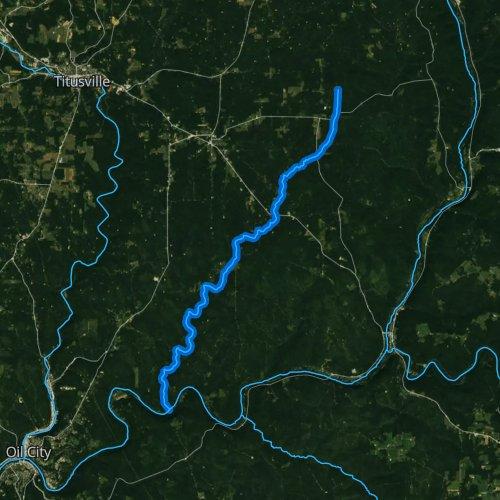 Fly fishing map for Pithole Creek, Pennsylvania