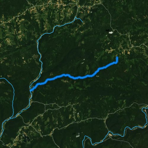 Fly fishing map for Pleasant Stream, Pennsylvania