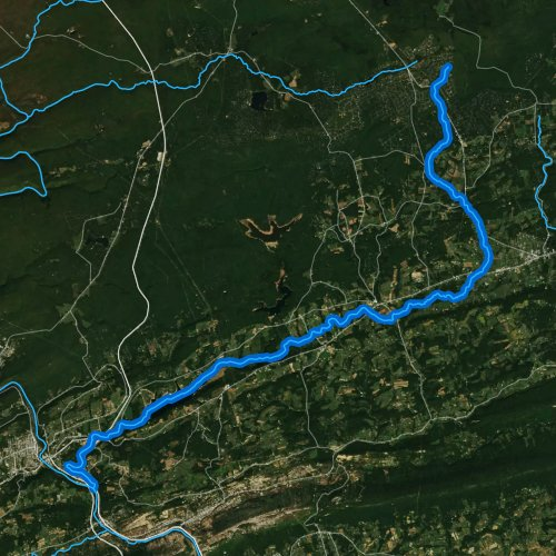 Fly fishing map for Pohopoco Creek, Pennsylvania
