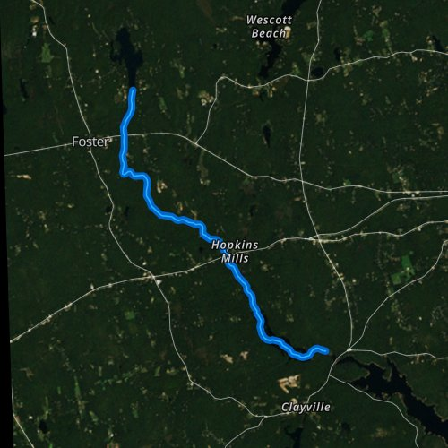 Fly fishing map for Ponaganset River, Rhode Island
