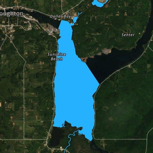 Portage Lake Michigan Map.Portage Lake Houghton Michigan Fishing Report