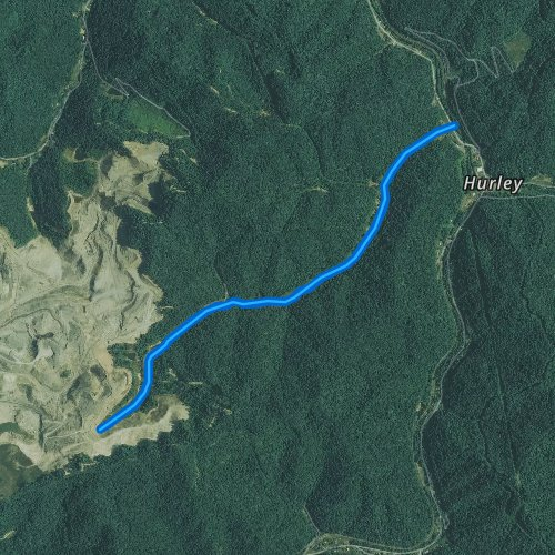 Fly fishing map for Pounding Mill Creek, Virginia