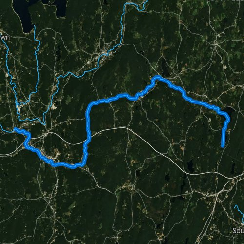 Fly fishing map for Quaboag River, Massachusetts