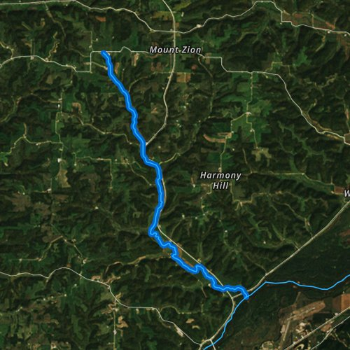Fly fishing map for Richland Creek, Wisconsin