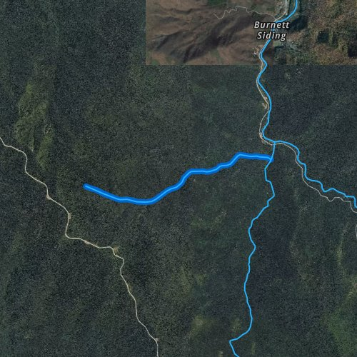 Fly fishing map for Right Hand Prong West Fork Pigeon River, North Carolina
