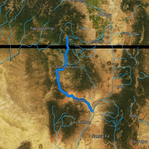 Fly fishing map for Rio Chama, New Mexico