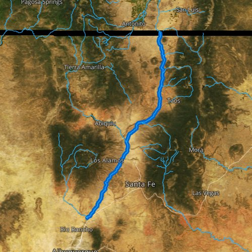 Fly fishing map for Rio Grande, New Mexico