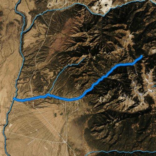 Fly fishing map for Rio Hondo, New Mexico