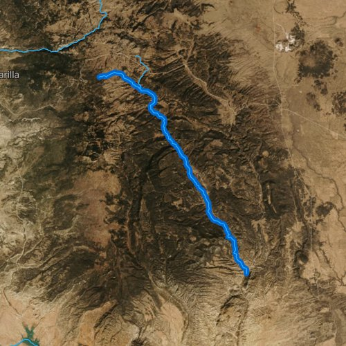 Fly fishing map for Rio Vallecitos, New Mexico