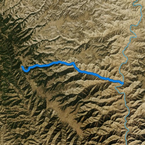 Fly fishing map for Rock Creek, Utah