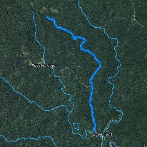 Fly fishing map for Rockhouse Creek, North Carolina