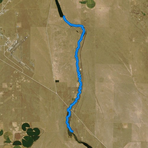 Fly fishing map for Rocky Ford Creek, Washington