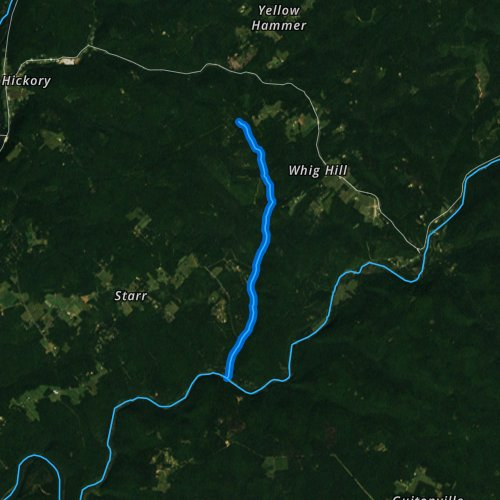 Fly fishing map for Ross Run, Pennsylvania
