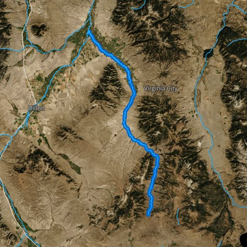 Fly fishing map for Ruby River, Montana