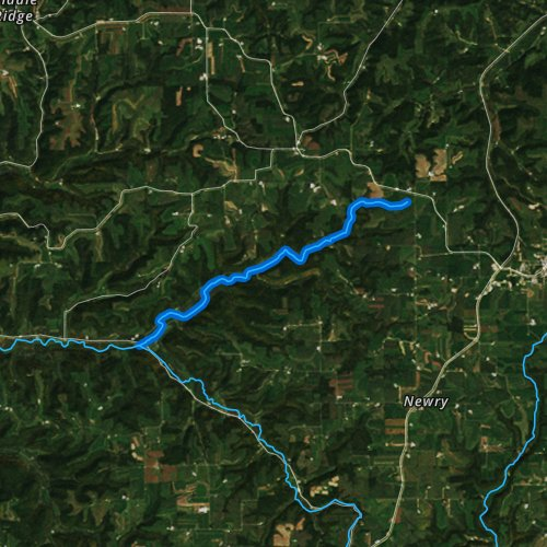 Fly fishing map for Rullands Coulee Creek, Wisconsin